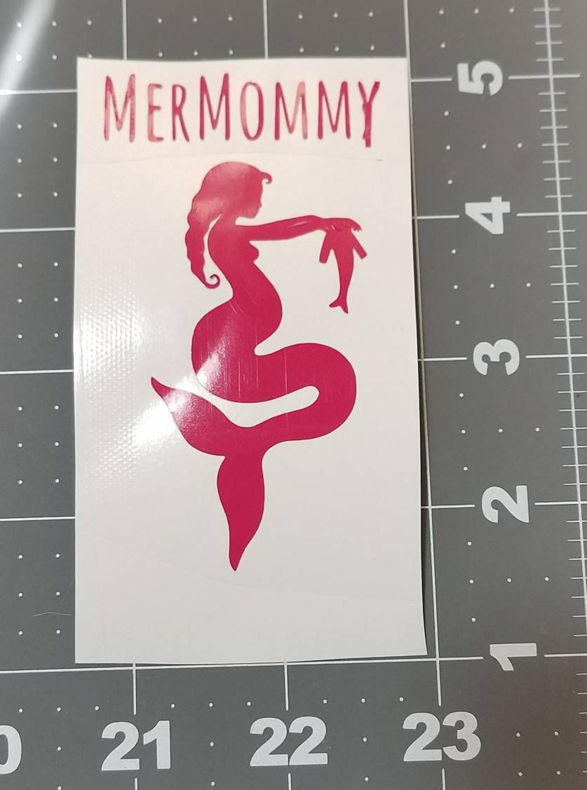 Mermommy Mermaid Vinyl Decal Stickers Vinyl Decal For Tumbler - Mermaid custom vinyl decals for car