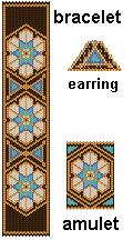 Persia 3-Pack Peyote Pattern by Charley Hughes AKA BeadyBoop at Bead-Patterns.com
