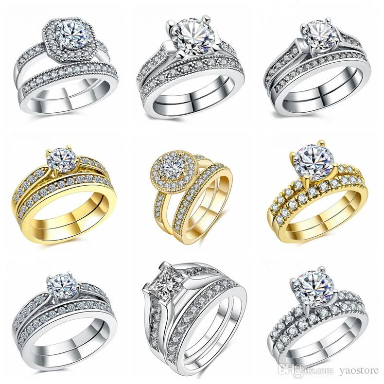 Romantic Wedding Rings For Women Group Ring 2018 Vintage White ...