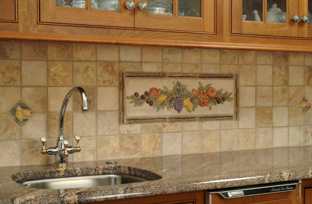 Kitchen Backsplash Ceramic Tile Kitchen Pinterest Kitchen