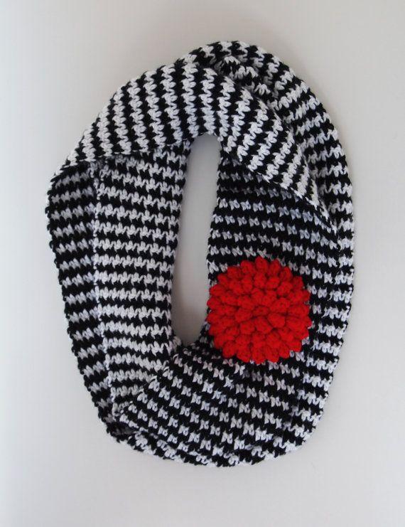 Houndstooth Infinity Scarf Alabama Crimson by WillingHandsCrochet ...