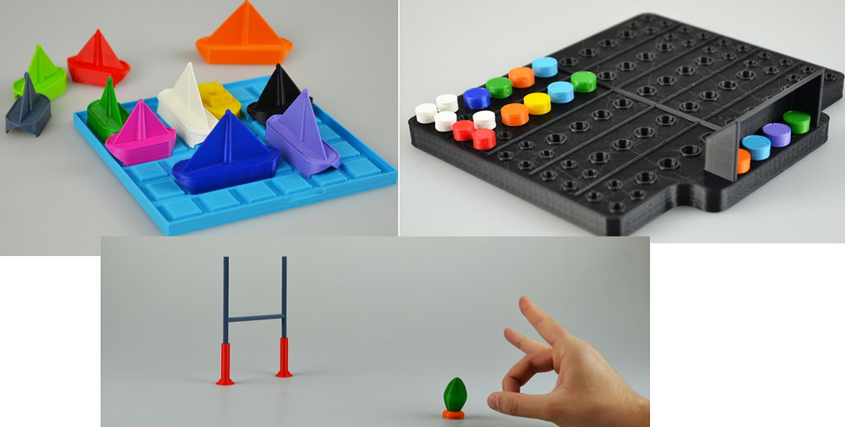 Games made on the 3d printer 3d printing, 3d printed