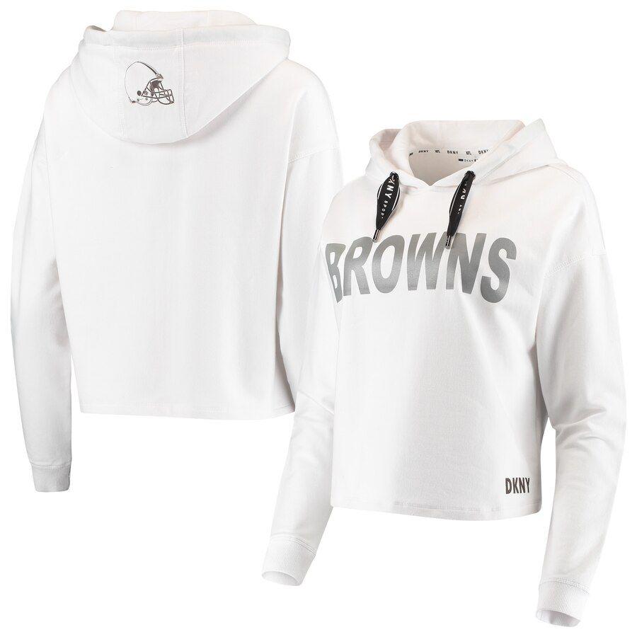 Cleveland Browns Dkny Sport Women S Maddie Crop Pullover Hoodie White Crop Pullover Hoodie White Hoodie Cleveland Browns Sweatshirt [ 900 x 900 Pixel ]