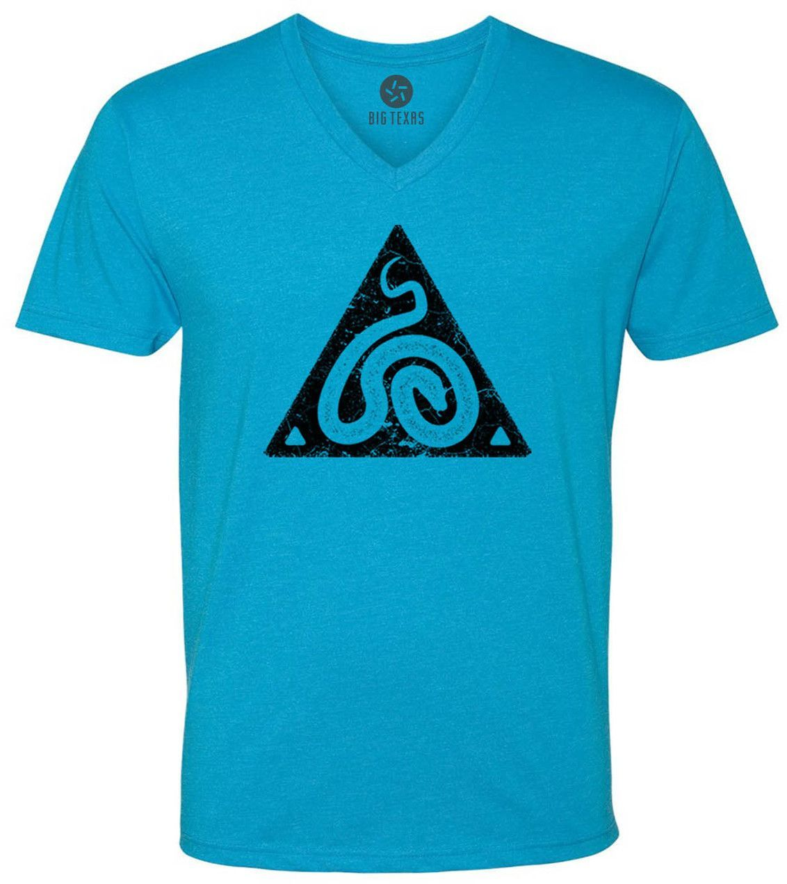Snake Symbol (Black) Short-Sleeve V-Neck T-Shirt