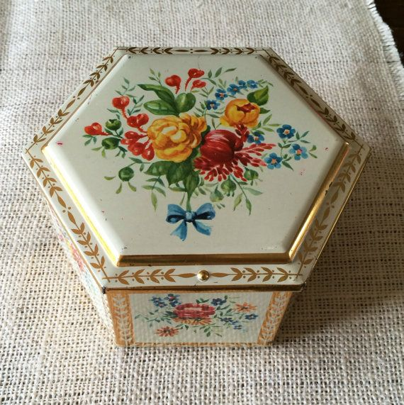 Western Germany Cookie Tin Tin Tin Box Tin by ThomasinasVintage, $12.00
