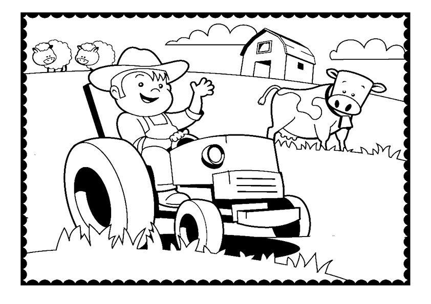 ausmalbilder traktor-6 | ausmalbilder und basteln mit