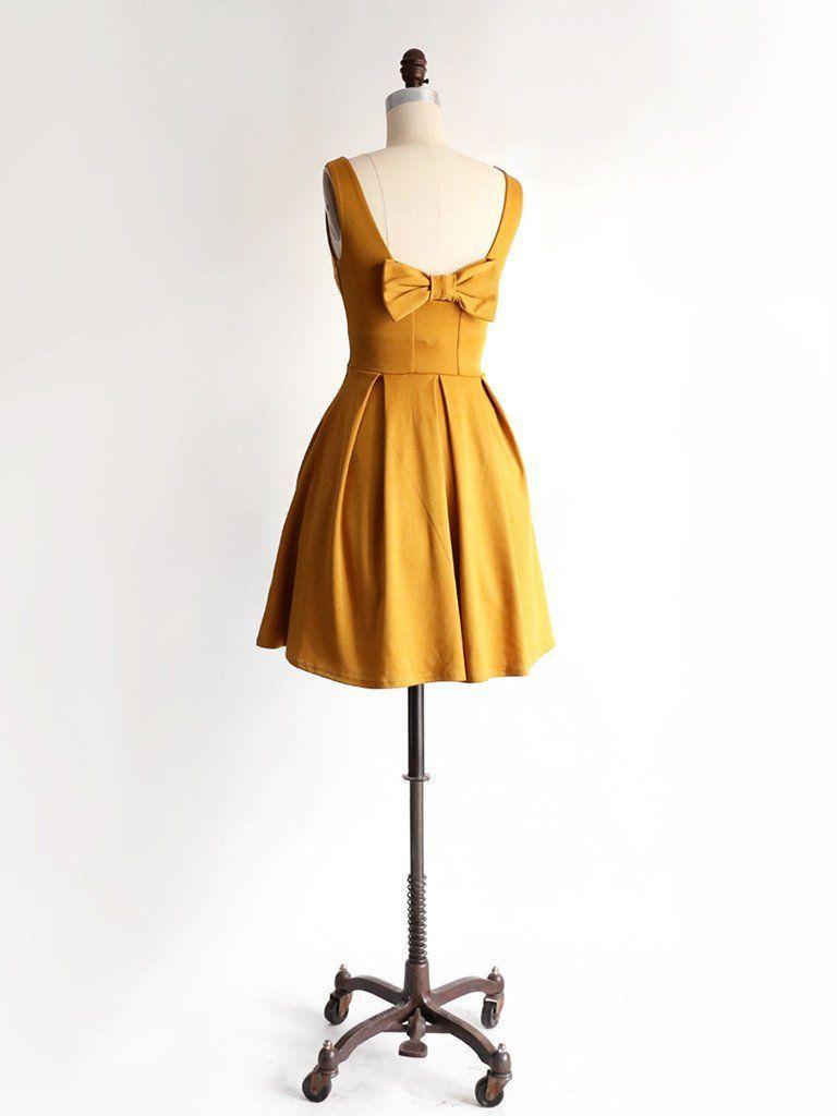 Apricity january dress in golden mustard yellow bridesmaid dress