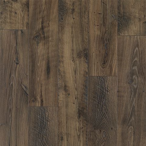 Smoked Chestnut Textured Laminate Floor Dark Chestnut