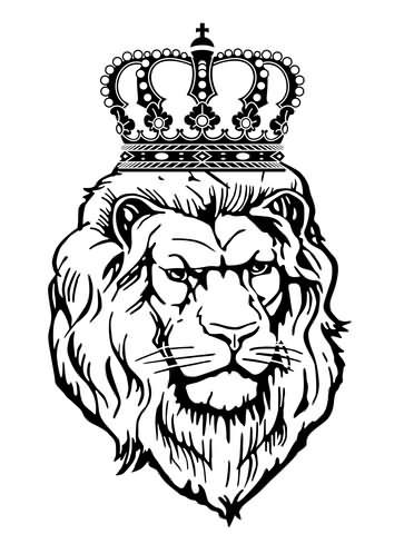 Lion Head With Crown Tattoo Design Tattoos Crown Tattoo Design