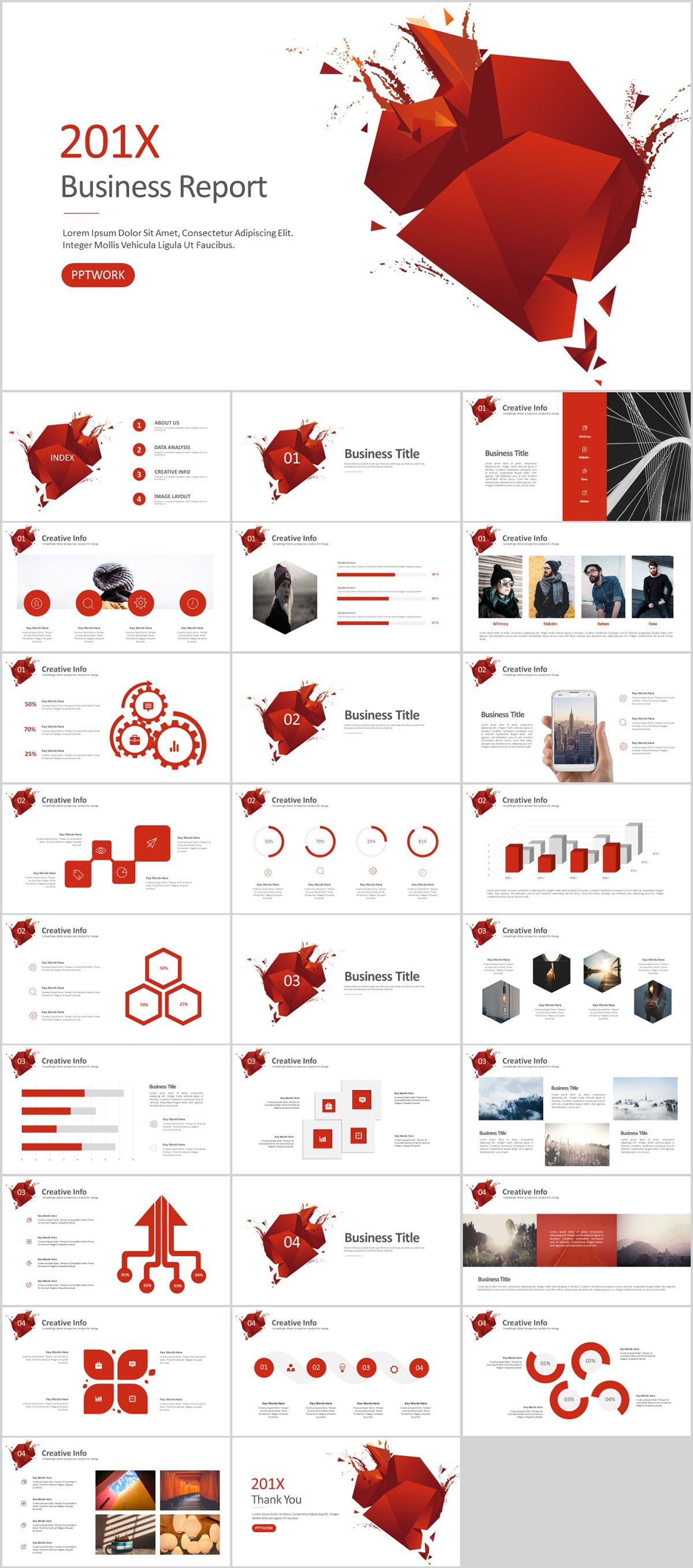 27 Red Business Powerpoint Presentations Template Powerpoint