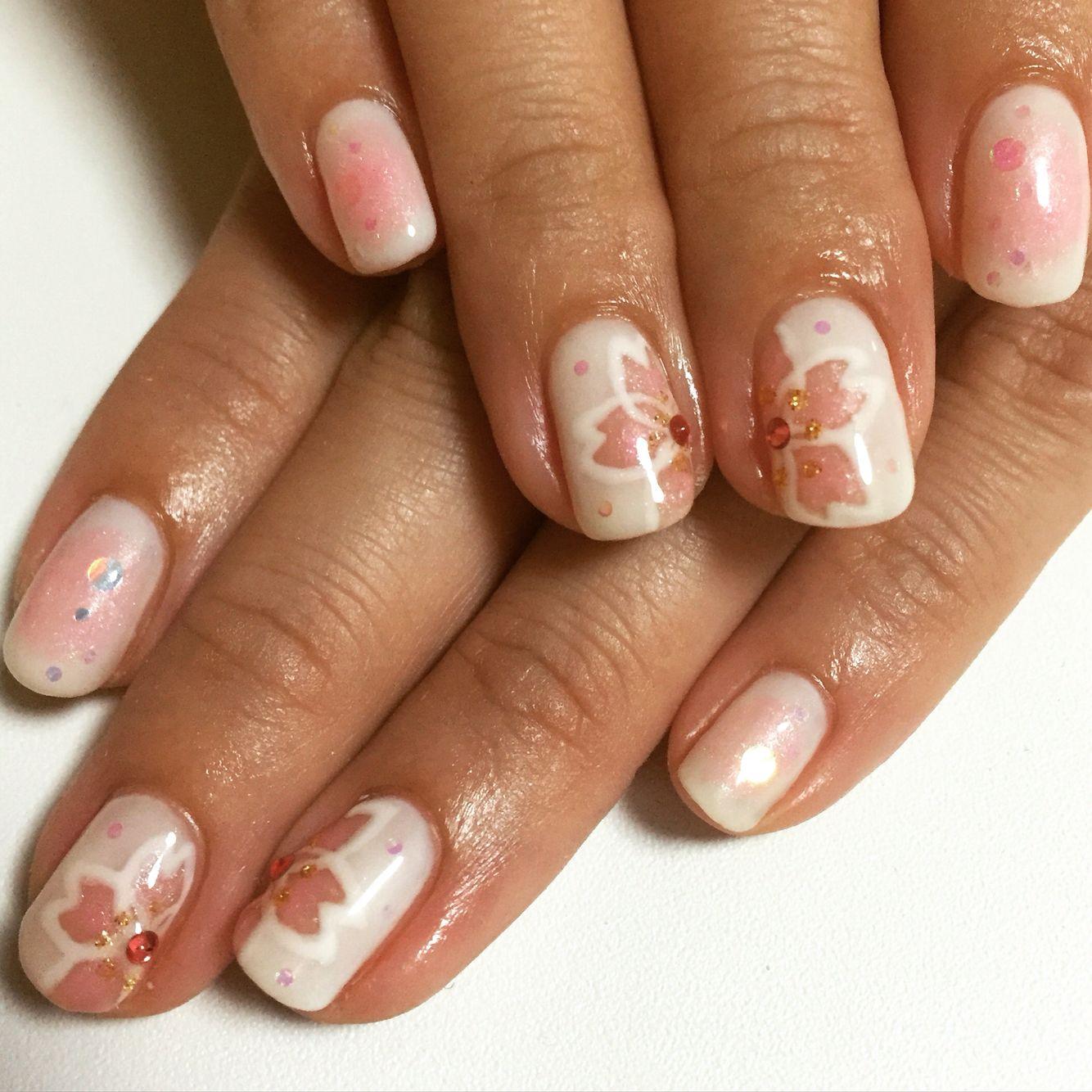 Cherry Blossoms nail | Design of Art Nail | Pinterest | Cherry ...