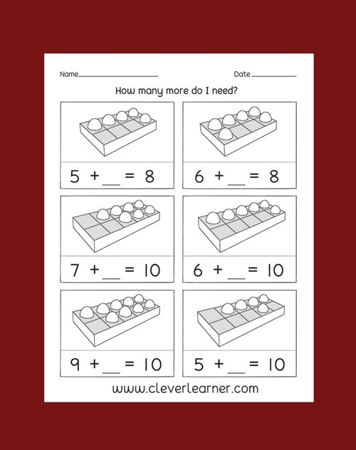 Pin By Clever Learner On Addition Of Numbers Worksheets Pinterest