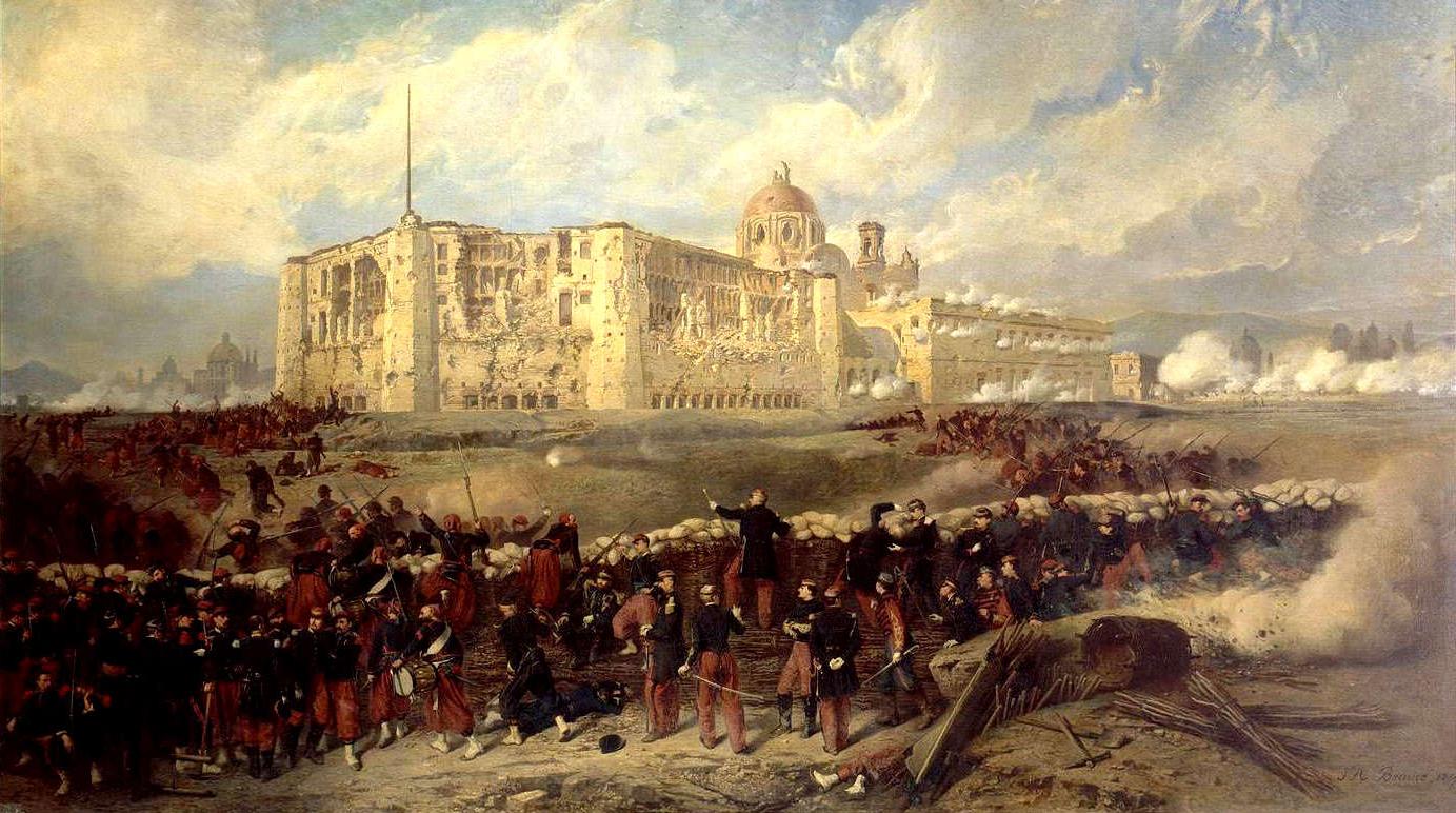 2nd Battle Of Puebla Puebla French Colonial Empire War Art