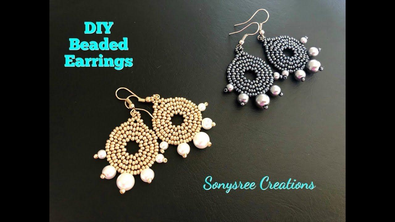 Diy Beaded Earrings How To Make Beaded Earrings Beaded Earrings