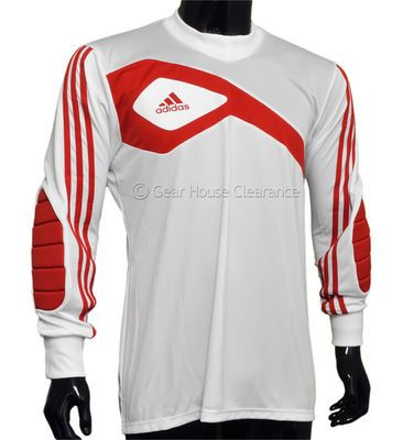 ece23526a New Adidas Assista 13 GK Soccer Goalkeeper Jersey Goalie - White   Red