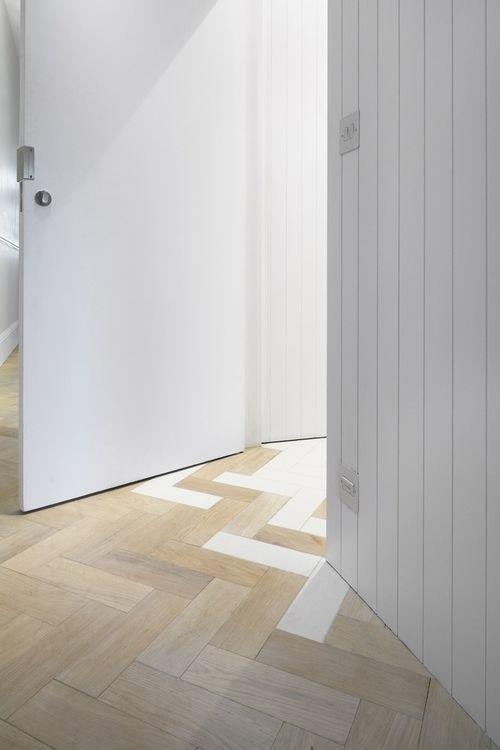Herringbone Floor Facet House By Platform 5 Architects C Alan Williams Flooring Transition Flooring House
