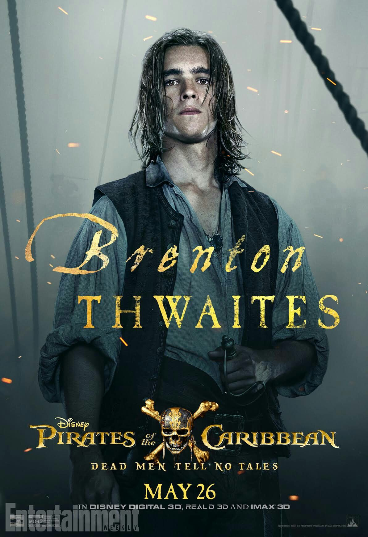 Brenton Thwaites as Henry Turner in Pirates of the Caribbean: Dead Men Tell no Tales! YESSSSS