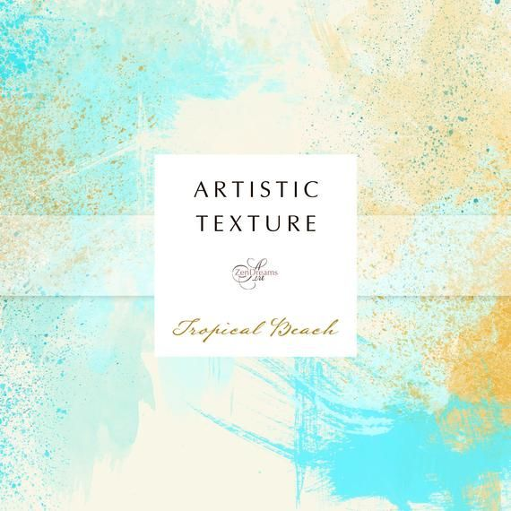Tropical Beach Artistic Watercolour Background Digital Paper