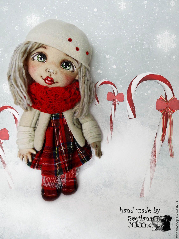 Купить Текстильная кукла Лиза. - кукла ручной работы ...