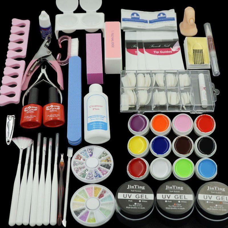 Home Use 36W UV GEL White Lamp 12 Color Gel Nail Art Tool Kits