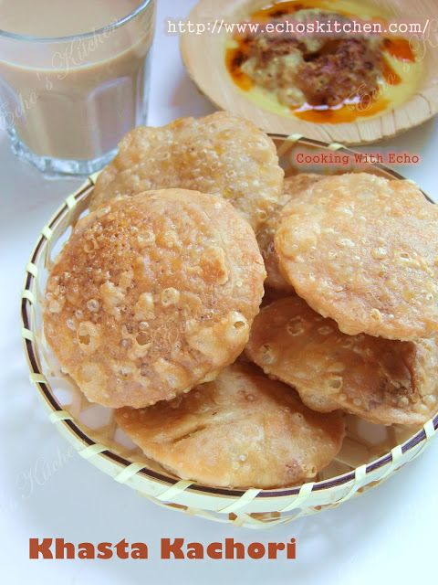 a taste of memories echo s kitchen khasta kachori with kadhi the rajasthani style on hebbar s kitchen kachori id=98474