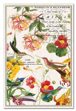 Perfect Michel Design Works Cotton Kitchen Towel, Flora Exotica. Bought 2 Of These  For My