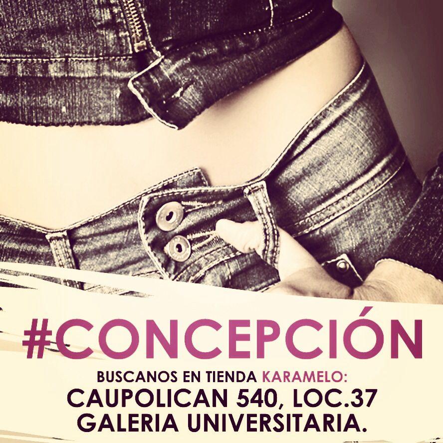 Busca tus jeans favoritos en CONCEPCION, Tienda Karamelo, Dirección: Caupolican 540, local 37, galería universitaria.
