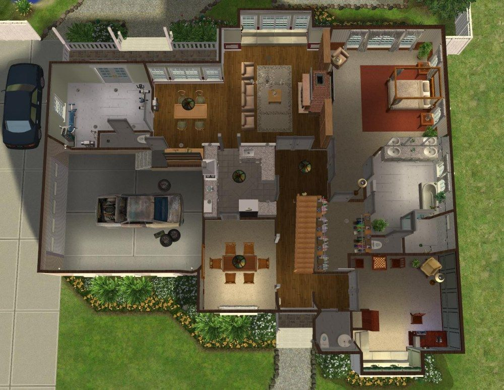 Mod The Sims 5 Bedroom Colonial Style House My 50th Upload 5 Bedroom House Plans Colonial Style Homes Bedroom Colonial Style
