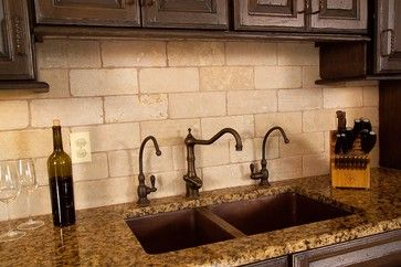 Natural Stone Subway Tile Design Pictures Remodel Decor