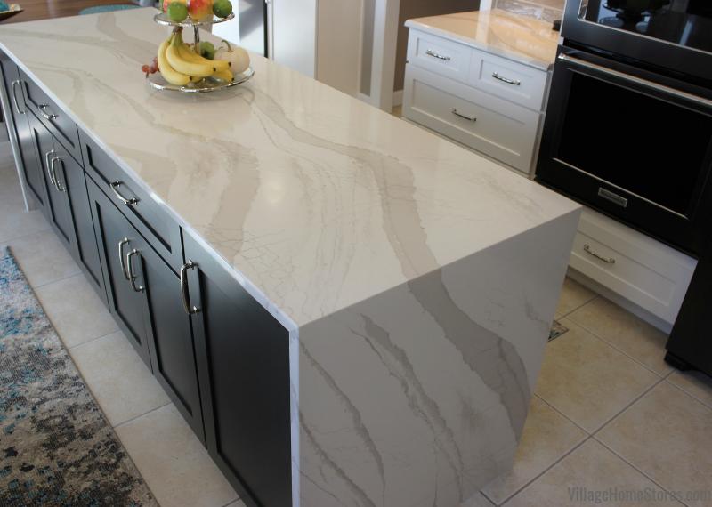Two Tone Kitchen In Bettendorf Iowa With Cambria Brittanicca Warm Quartz Counters Installed With A Water Kitchen Remodel Kitchen Design Elegant Kitchen Design
