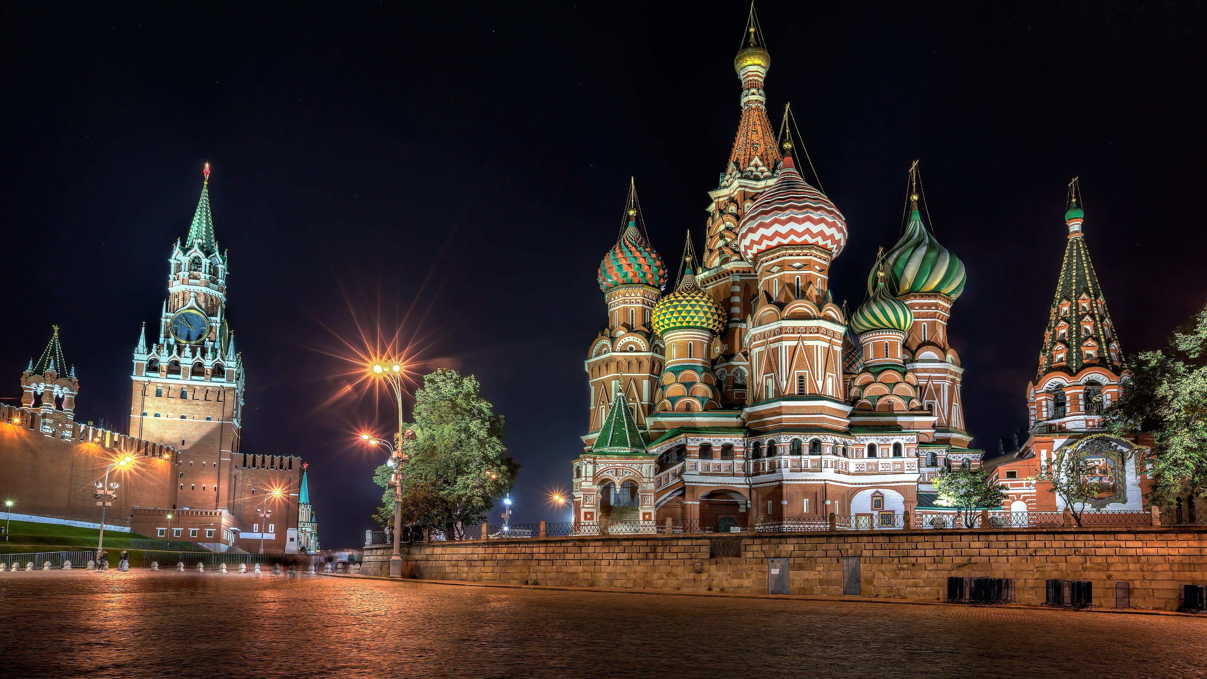 Saint Basil S Cathedral Russia Night Moscow The Kremlin St Basil S Cathedral Russia Red Square 4k Wallpap St Basils Cathedral Russia Landscape Cathedral