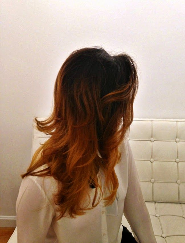 575e89c5153 ombre hair layer haircut blow out agostino salon charles street boston  Scorpion Disco - A Boston Fashion Blog