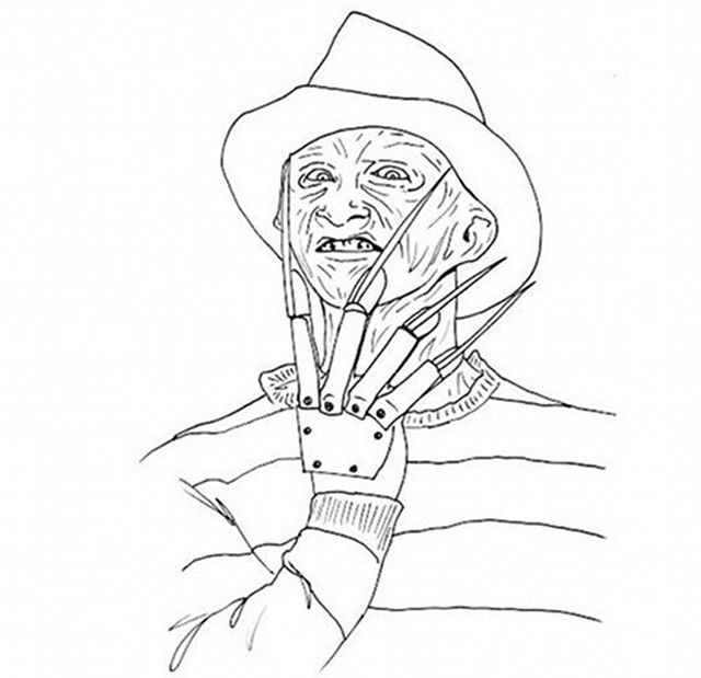 Coloring Pages Horror Movies Google Search Halloween Coloring