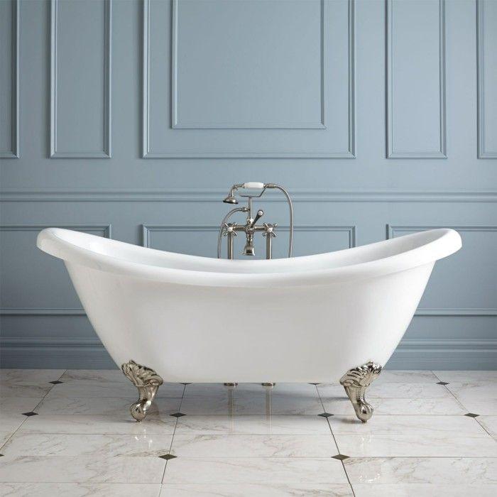 Baignoire ancienne en fonte cool salle de bain retro - La baignoire poitiers ...