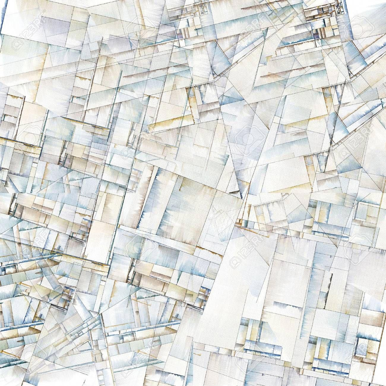 Abstract Art Reminiscent of City Blocks ,