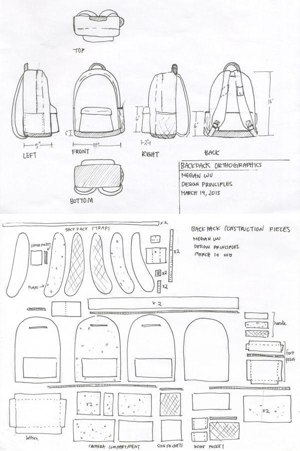 Soft Goods Re-Design (Tourist Backpack) by Megan Wu, via Behance ...