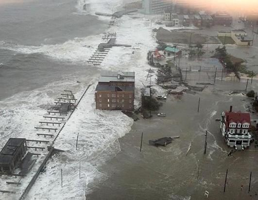 This Photo Provided By 6abc Action News Shows The Inlet Section Of Atlantic City N J As Hurricane Sand Atlantic City Boardwalk Hurricane Sandy Atlantic City