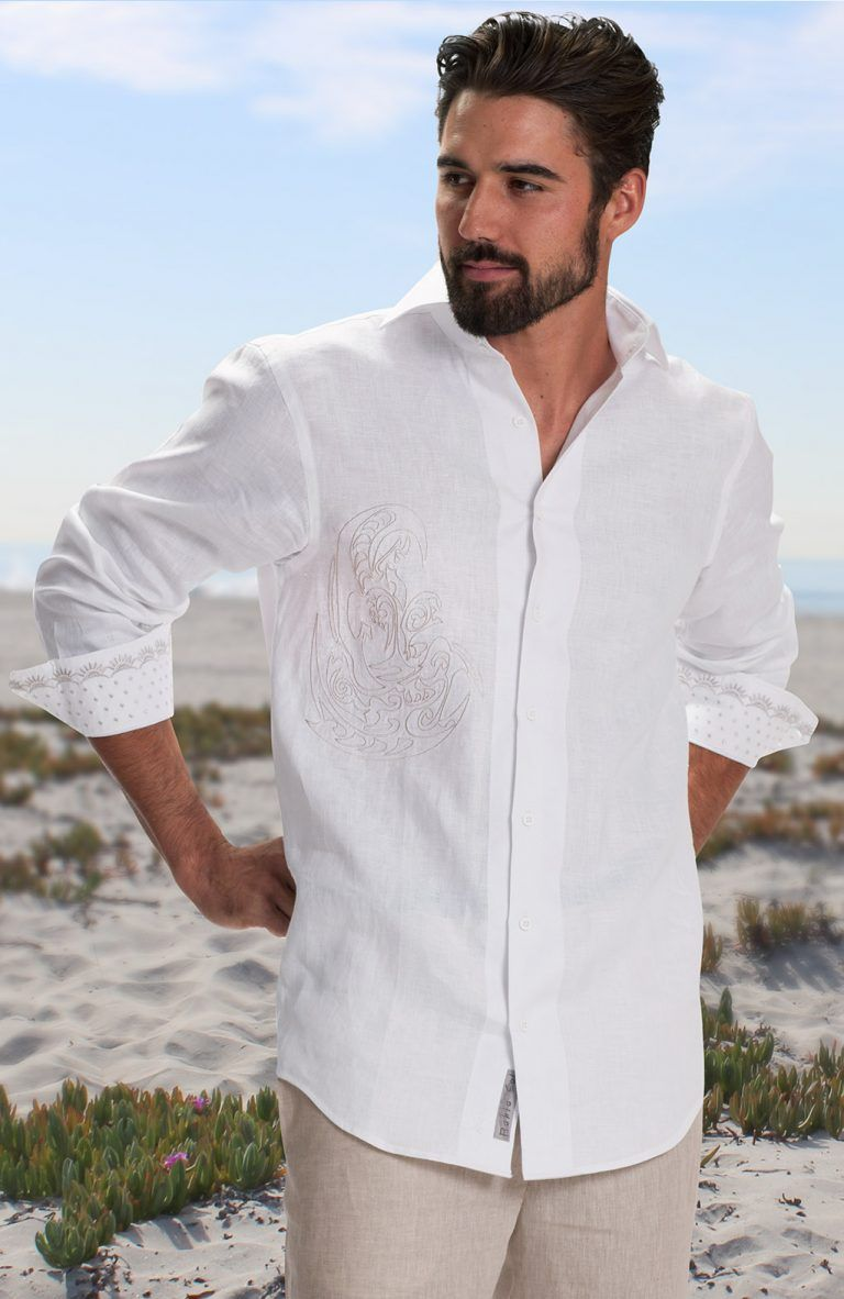 Balos Custom Italian Linen Shirts Beach Wedding Attire Beach Wedding Guest Attire Wedding Shirts [ 1182 x 768 Pixel ]