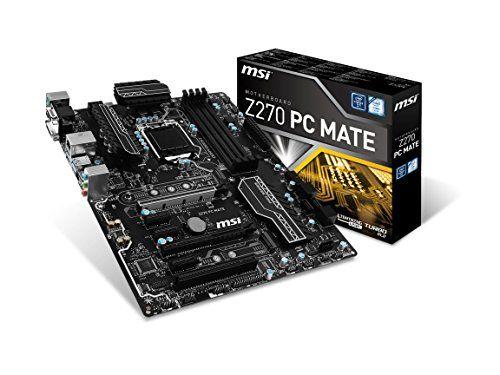 Msi Pro Series Intel Z270 Ddr4 Hdmi Usb 3 Crossfire Atx Motherboard Z270 Pc Mate In 2020 Motherboard Msi Intel