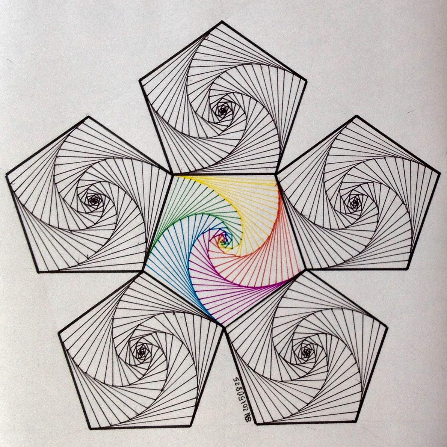 Line Design String Art : Hexagon … dr stringlove pinterest string art