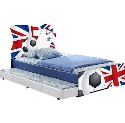 Single Children S Bed Frame Football Kids Boys Bedroom Pu Leather