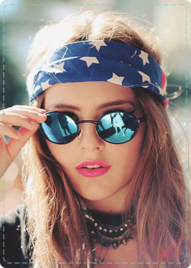 american flag hippie style