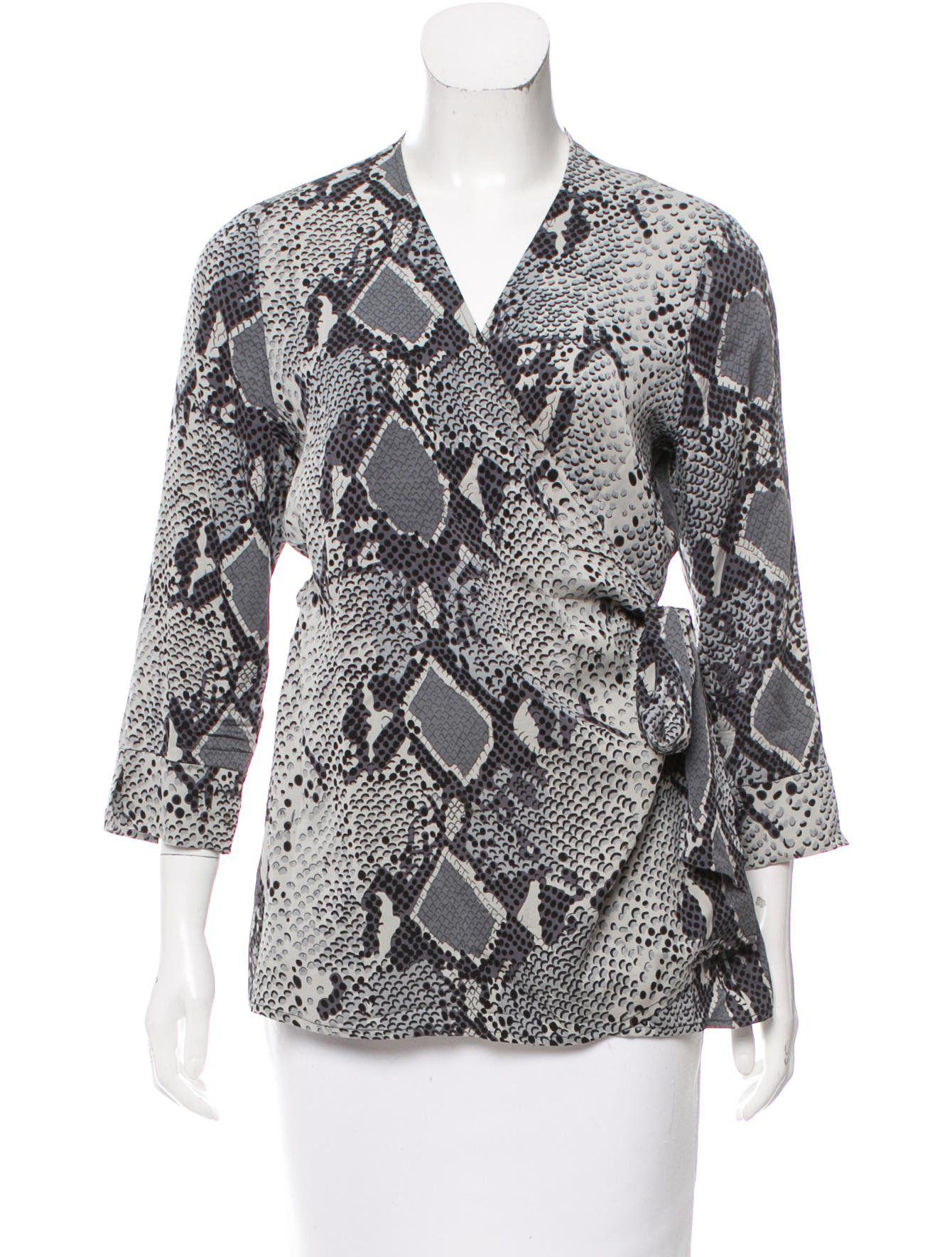 Diane von Furstenberg Silk Jill Top  Styles I Like  Pinterest