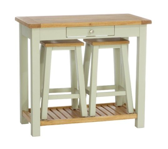 Vancouver Petite Expressions Console Table With 2 Stools