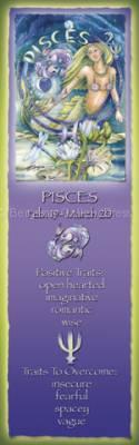 Zodiac Series / Pisces - Bookmark  by Jody Bergsma