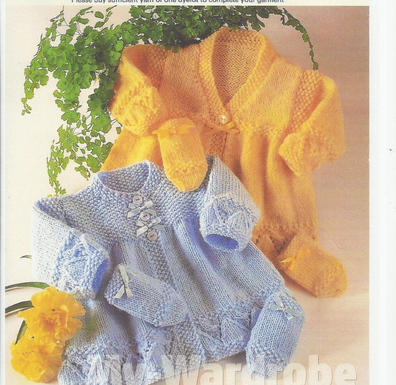 Vintage baby knitting pattern for stunning mattinee set jacket and ...