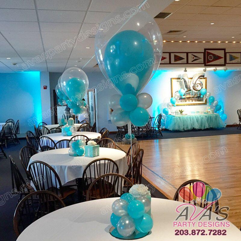 Tiffany theme fantasy cloud double bubble balloon