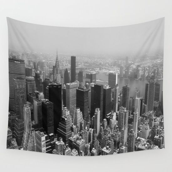 New York City Black And White Wall Tapestry Black And White Wall Tapestry Photography Wall Art Tapestry