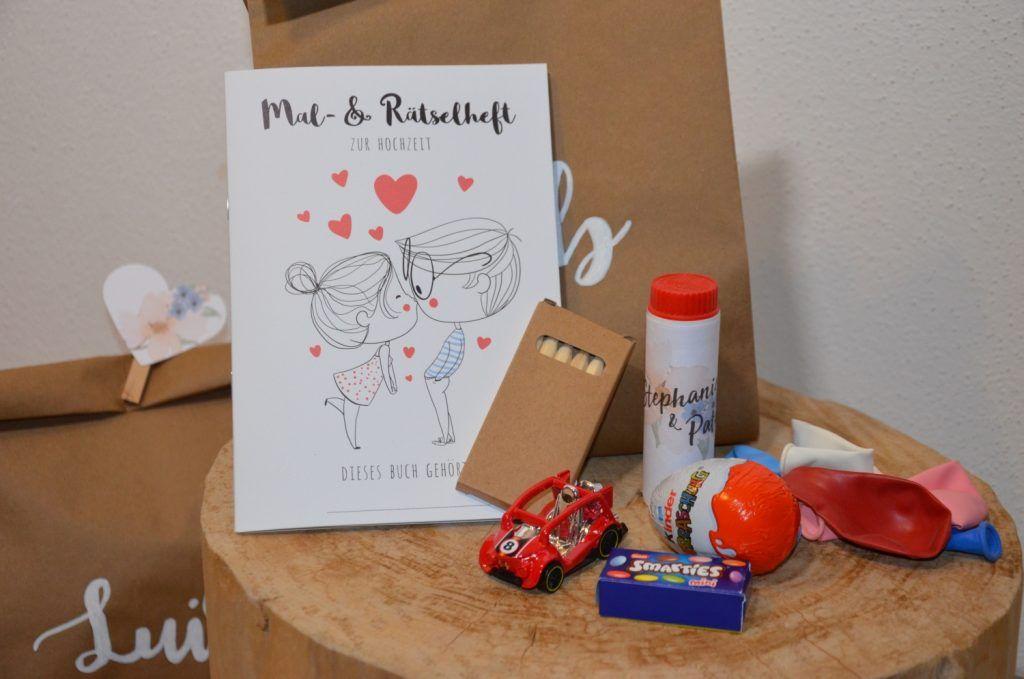 Geschenketaschen Fur Die Kinder Mit Malbuchern Seifenblasen Diy Hochzeit Kinder Auf Der Hochzeit Kinder Malbuch Wenn Du Mal Buch