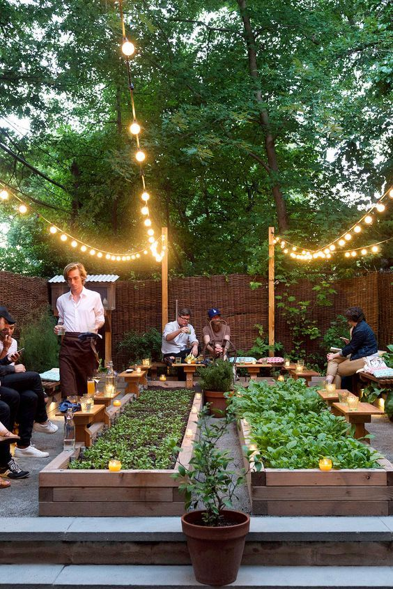 10 ideas para dar verde a un restaurante Gardens Cafes and Backyard